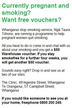 WDHB smokefree voucher offer